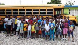 Crianças socorridas pela Nations Help e New Life 4 Kids no Haiti em 2018