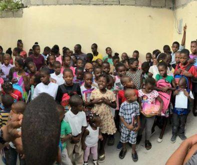 Crianças socorridas pela Nations Help no Haiti em 2018